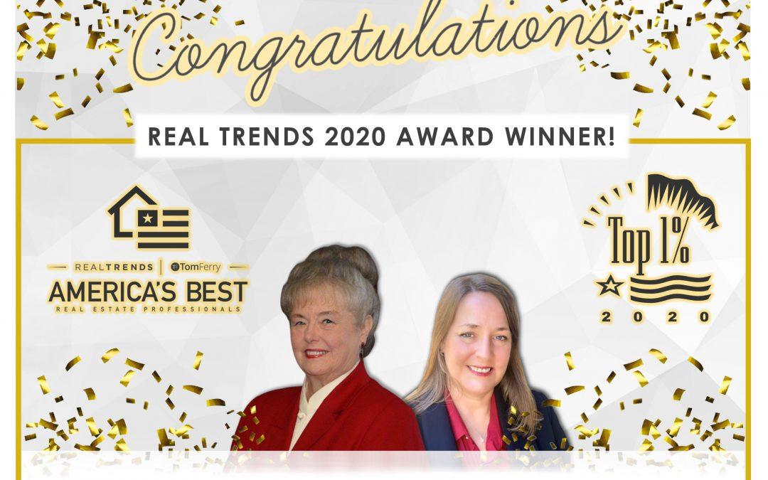 Real Trends 2020 Award Winner